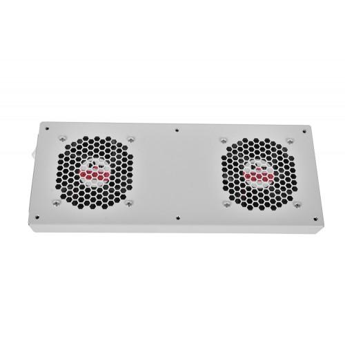 Вентиляторный модуль Rem R-FAN, 48V, 45х432х195 мм (ВхШхГ), вентиляторов: 2, 86 дБ, поток: 300 м3/ч, для шкафов ШРН R-FAN-2TJ-36V-48V