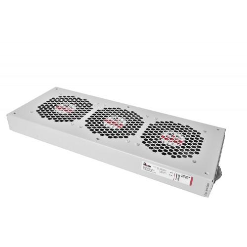 Вентиляторный модуль Rem R-FAN, 48V, 45х432х195 мм (ВхШхГ), вентиляторов: 3, 130 дБ, поток: 450 м3/ч, для шкафов ШРН R-FAN-3J-36V-48V