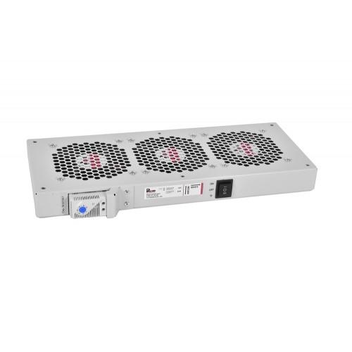 Вентиляторный модуль Rem R-FAN, 48V, 45х432х195 мм (ВхШхГ), вентиляторов: 3, 130 дБ, поток: 450 м3/ч, для шкафов ШРН R-FAN-3TJ-36V-48V