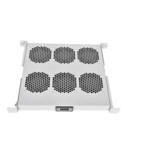 Вентиляторный модуль Rem R-FAN, 230V, 1U, 45х482,6х410 мм  вентиляторов: 6, 258 дБ, поток: 900 м3/ч, для всего 19