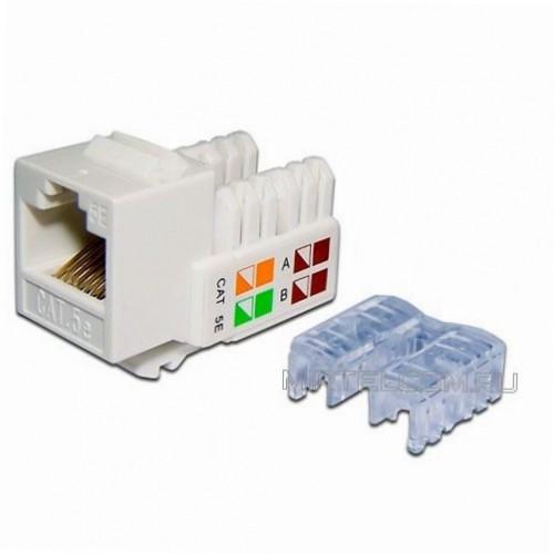 Модуль Keystone RJ45, кат.5e, UTP, 90 градусов, белый, NewMax NM-KSTU90/WH