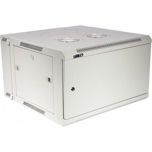 Шкаф настенный серии Pro, 3-секционный, 27U 600x600, металлическая дверь TWT-CBW3M-27U-6x6-GY