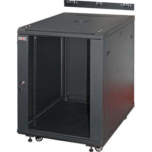 Шкаф MDX напольно-настенный  22U, глубина 600мм, дверь стекло, черный MDX-CW2-22U-6х6, 2 ЧАСТИ