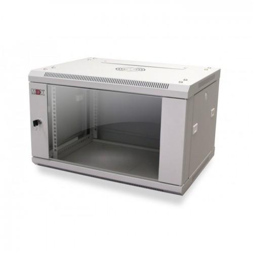 Шкаф MDX настенный 15U, глубина 600мм, дверь стекло серый MDX-CW2-15U-6х6-GY, 1 ЧАСТЬ