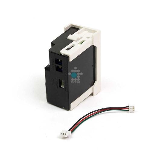 Блок питания для конвертора RJ45-VGA, формата Mosaic, 22.5х45мм, вертикальный, белый LANMASTER LAN-SIP-23VGA/VP-WH