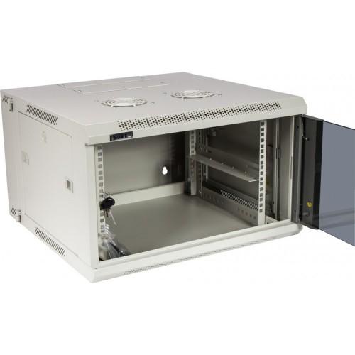 Шкаф настенный серии Pro, 3-секционный, 6U 600x600, стеклянная дверь
