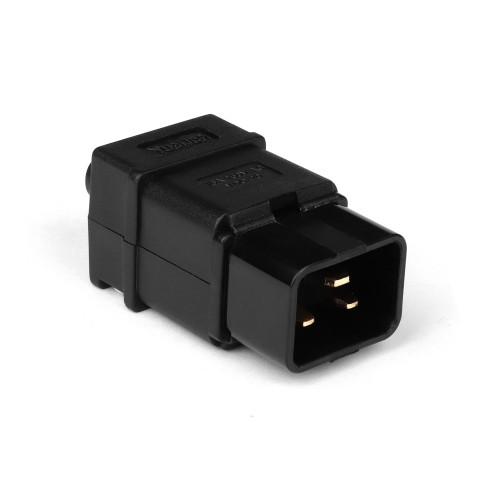 Вилка электрическая кабельная, IEC 60320, C20, 16A, 250V, разборная, черная, TopLAN TOP-IEC-320-C20