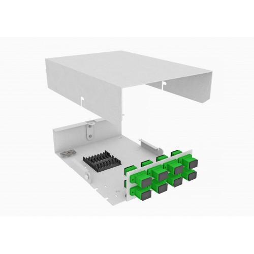 Кросс оптический, настенный, 8 SC/APC адаптеров, одномодовый, TopLAN, укомплектованный