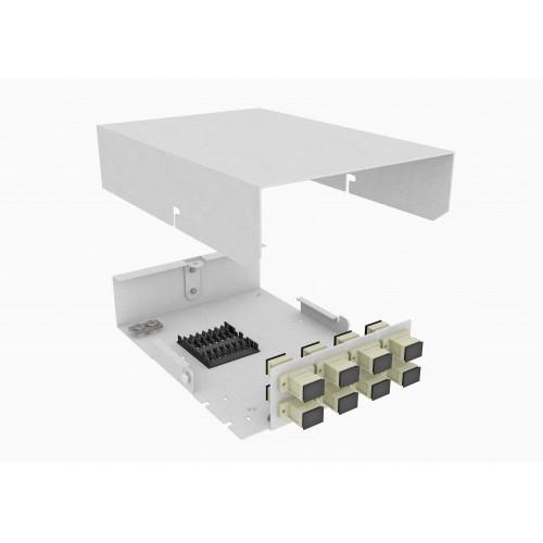 Кросс оптический, настенный, 8 SC адаптеров, многомодовый (50/125), TopLAN, укомплектованный