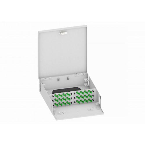 Кросс оптический, настенный, 48 ST/APC адаптеров, одномодовый, TopLAN, укомплектованный