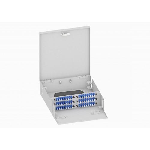 Кросс оптический, настенный, 96 LC/UPC адаптера, одномодовый, TopLAN, укомплектованный
