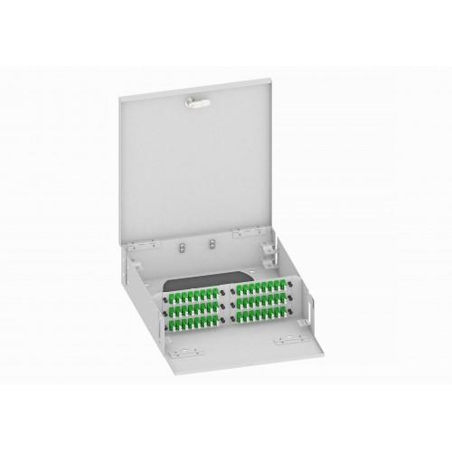 Кросс оптический, настенный, 96 LC/APC адаптера, одномодовый, TopLAN, укомплектованный