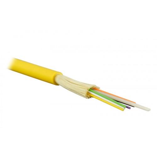 ВО кабель Lanmaster одномодовый внутренний 8 волокон PVC G657 черный LAN-OFC-DI8-S7-LS