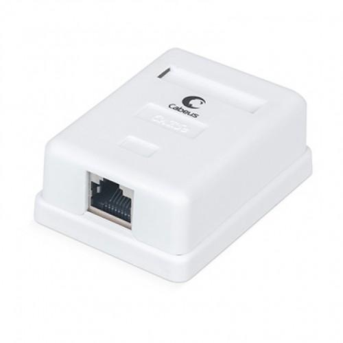 Cabeus WS-8P8C-Cat.5e-SH-1 Розетка компьютерная RJ-45(8P8C), категория 5e, экранированная, одинарная, внешняя, Dual IDC
