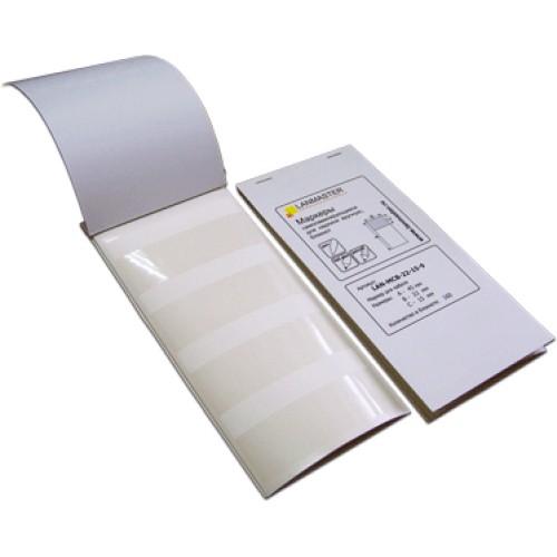 Маркер самоламинирующийся, блокнот, 25х15, диам.9мм, 49 шт LAN-MCB-25x15x9
