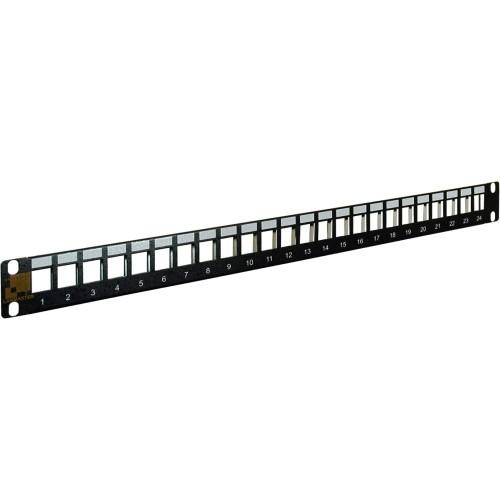 Патч-панель наборная 19 компактная, экранированная, 24 порта, 0.5U  LAN-PPC24OK-STP