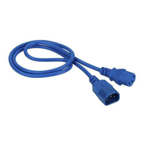 LANMASTER Шнур питания  C13-C14, 3х0.75, 10А, синий, 1.5 метра LAN-PPM-10A-1.5 LAN-PP13/14-1.5-BL