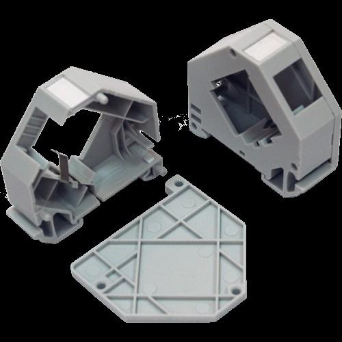 Бокс на DIN-рейку для установки модуля типа Keystone, серый