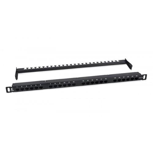 Cabeus PLHD-24-Cat.5e-Dual-180-0,5U Патч-панель высокой плотности 19