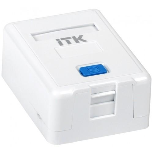 ITK Корпус настенной розетки для 1 мод. Keystone Jack