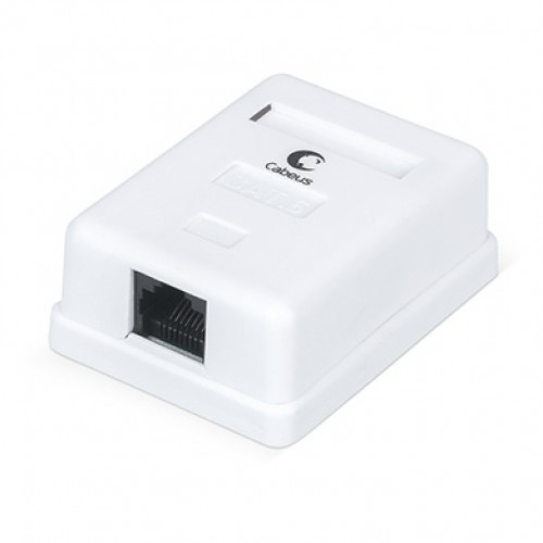 Cabeus WS-8P8C-Cat.6-1 Розетка компьютерная RJ-45(8P8C), категория 6, одинарная, внешняя, Dual IDC
