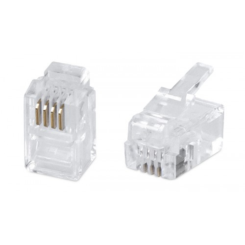 Cabeus 4P4C Телефонный коннектор для телефонных трубок