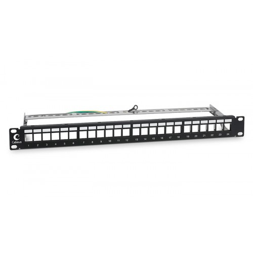 Cabeus Модульная патч-панель, 24 порта, 1U, для экранированных модулей, PLB-24-SH