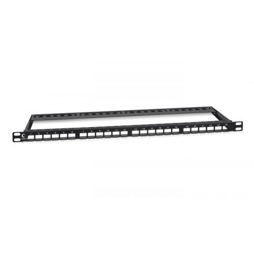 Cabeus Модульная патч-панель высокой плотн. 0,5U, 24 порта, для неэкранированных модулей, PLBHD-24-0,5U