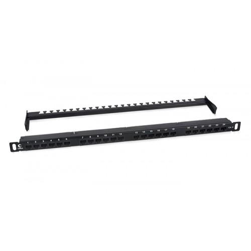 Cabeus Патч-панель высокой плотности 0,5U, 24 порта RJ-45, категория 6, PLHD-24-Cat.6-Dual-180-0,5U