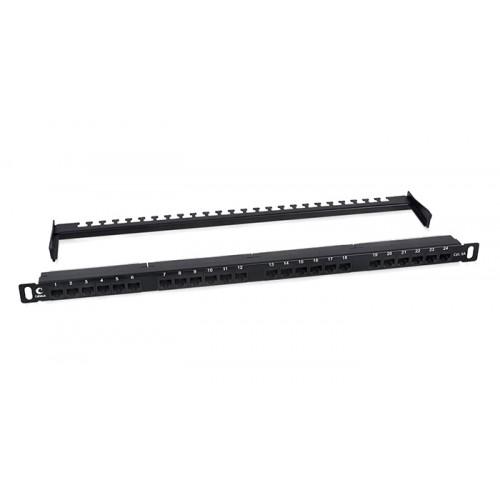 Cabeus Патч-панель высокой плотности 0,5U, 24 порта RJ-45, категория 6a, PLHD-24-Cat.6a-Dual-180-0,5U