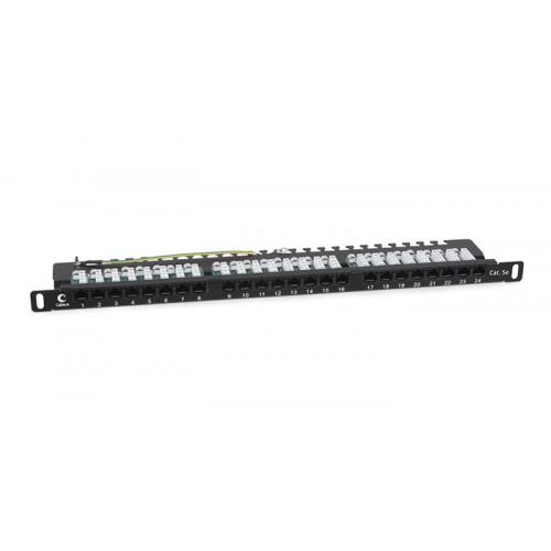 Cabeus PLHD-24-Cat.5e-Dual-90-0,5U Патч-панель высокой плотности 19