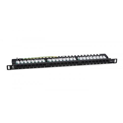 Cabeus Патч-панель высокой плотности 0,5U, 24 порта RJ-45, категория 6, PLHD-24-Cat.6-Dual-90-0,5U