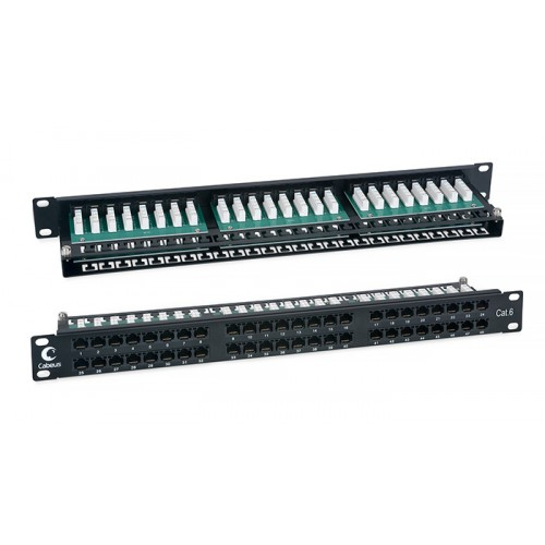 Cabeus Патч-панель высокой плотности 1U, 48 портов RJ-45, категория 6, PLHD-48-Cat.6-Dual IDC-1U