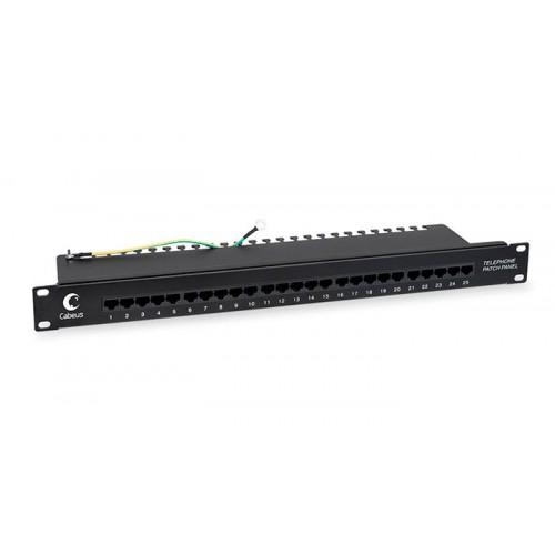Cabeus PL-25-TEL-Dual IDC Патч-панель 19
