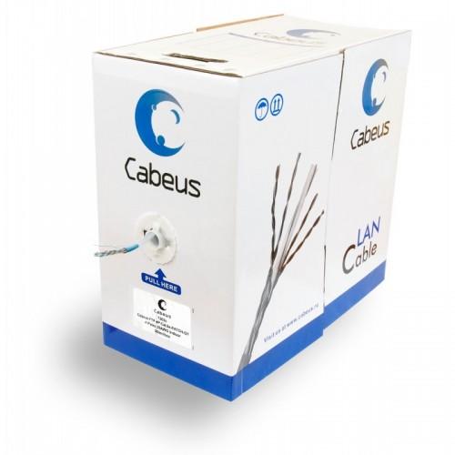 Cabeus UTP-4P-Cat.5e-PATCH-LSZH-GY Кабель витая пара UTP (U/UTP), категория 5e, 4 пары, (24 AWG), многожильный (patсh), серый, LSZH (Low Smoke Zero Ha