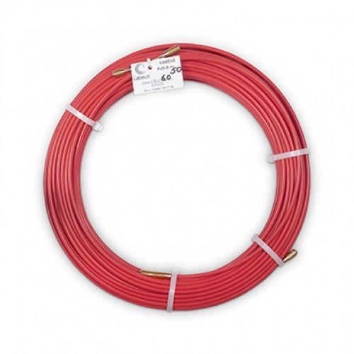 Cabeus Pull-B-6-50m Устройство для протяжки кабеля в стояках и трубах межэтажных конструкций мини УЗК в бухте, 50м (диаметр стеклопрутка 6 мм)