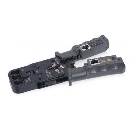 Cabeus HT-2010NT (HT-022) Инструмент обжимной 3 в 1 для RJ-45, RJ-11/12 с тестером для витой пары