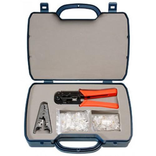 Cabeus HT-2568A Набор инструментов (инструмент обжимной для RJ-45, RJ-12, зачистка, 30х8P8C, 30x6P6C)