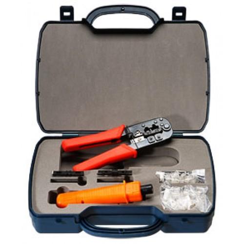 Cabeus HT-2568E Набор инструментов (инструмент обжимной для RJ-45, RJ-12, инструмент для заделки витой пары 110/66 типа, 30х8P8C, 30x6P6C)
