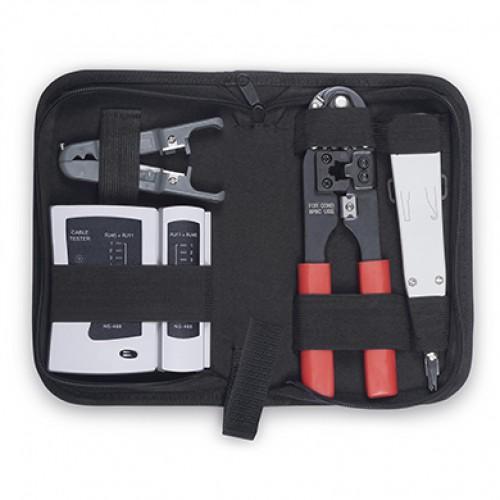 Cabeus HT-TK-02 Набор инструментов (инструмент обжимной, инструмент для заделки витой пары , зачистка, тестер)