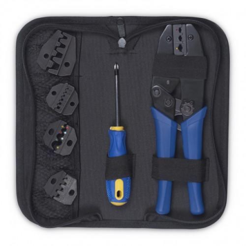 Cabeus HT-TK-04 Набор инструментов ( инструмент обжимной для кабельных наконечников, отвертка, сменныенасадки 5 шт.)
