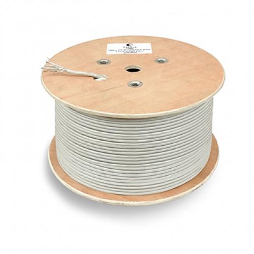Cabeus STP-4P-Cat.6a-SOLID-IN-PVC Кабель витая пара экранированная STP (U/FTP), категория 6a (10GBE), 4 пары, (23 AWG), одножильный (solid), каждая па