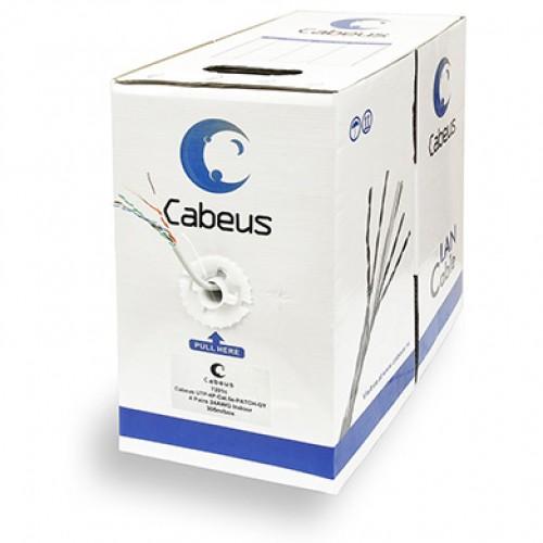 Cabeus UTP-4P-Cat.5e-PATCH-GY Кабель витая пара UTP (U/UTP), категория 5e, 4 пары, (24 AWG), многожильный (patсh), серый (305 м)
