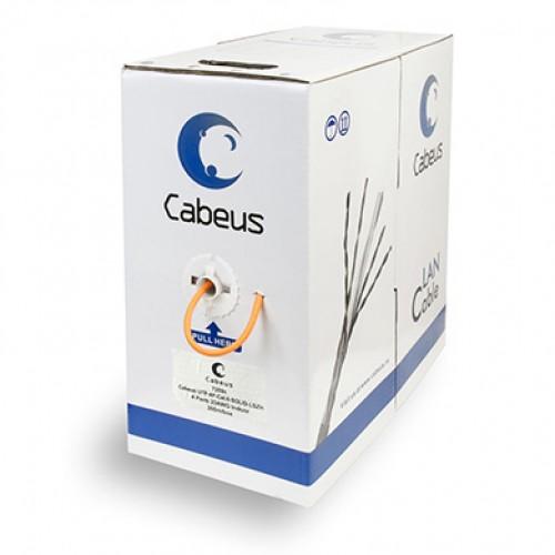 Cabeus UTP-4P-Cat.6-SOLID-LSZH Кабель витая пара UTP (U/UTP), категория 6, 4 пары 0,57мм (23AWG), одножильный, LSZH (Low Smoke ZeroHalogen) (305 м)