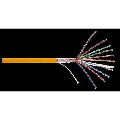 Кабель NETLAN U/UTP 10 пар, Кат.5 (Класс D), 100МГц, одножильный, BC (чистая медь), внутренний, LSZH нг(B)-HF, оранжевый, 305м