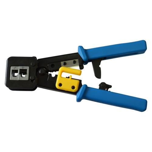 Обжимной инструмент для коннекторов типа EZ, 4P, 6P, 8P, с храповым механизмом, LAN-CRI-468R/EZ