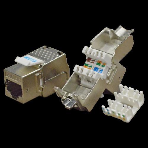 Модуль Keystone RJ45, кат.5e, STP, 180 градусов, TWT-OK45STP180/5E