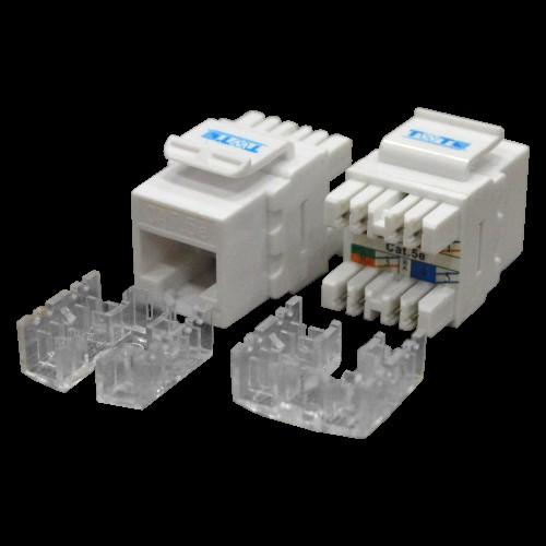 Модуль Keystone RJ45, кат.5e, UTP, 180 градусов, белый, TWT-OK45UTP180/5E-WH