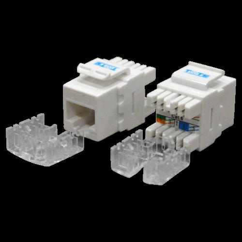 Модуль Keystone RJ45, кат.6, UTP, 180 градусов, белый, TWT-OK45UTP180/6-WH