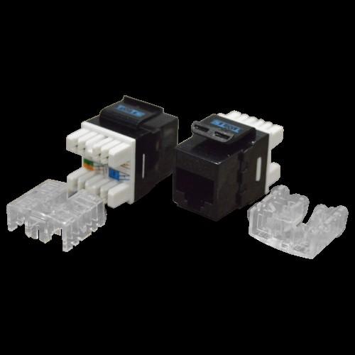Модуль Keystone RJ45, кат.6, UTP, 180 градусов, черный, TWT-OK45UTP180/6-BK